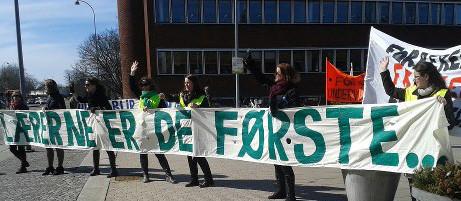 Lærerdemonstration 4. april 2013 ved Gladsaxe Rådhus