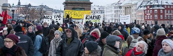 Demonstration mod salg af DONG-aktier til Goldman Sachs, januar 2014