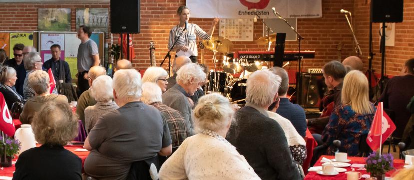 Pernille Skipper talte ved Enhedslisten Gladsaxe 30-årsfest