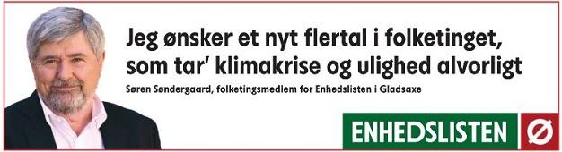 Søren Søndergaard: Jeg ønsker et nyt flertal i Fo.kletinget, som tager klimakrise og ulighed alvorligt