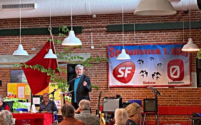 Søren Søndergaard talte ved 1. maj 2019 på Buddinge Skole