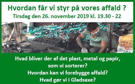 Offentligt møde affald, cirkulær økonomi og bæredygtigt forbrug