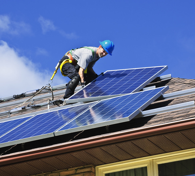 Solar Installer, photo by Greens MPs via Flickr