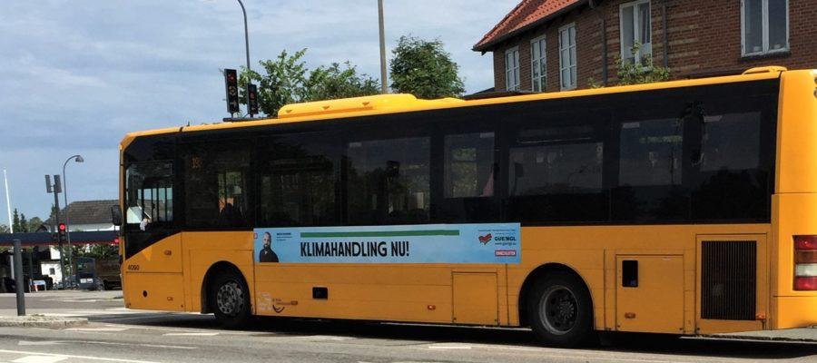 Klimahandling Nu: Enhedslistens busbanner, juni 2020