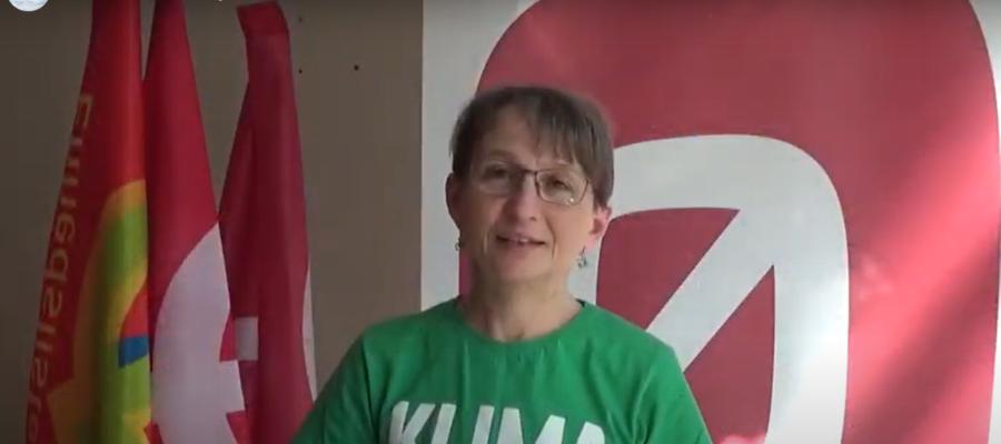 Trine Henriksen taler ved 1. maj 2021 i Gladsaxe