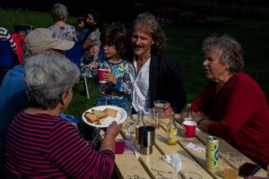 Rådhusparken 11. september 2021 - Ved bordene